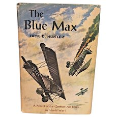 The Blue Max Book 1st Edition w/ Dust Cover   by James Hunter Signed by Author 1964  w/ 1966 Newspaper Article