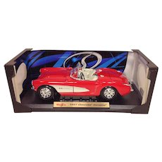 Maisto Special Edition 1957 Chevrolet Corvette Convertible 1/18th Scale Model Car NIB