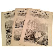 Illustrated London News - 3 Papers, 1871 Chicago Fire, Paris Riot, Burgoyne