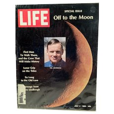 Life Magazine July 4 1969 Off to the Moon Neil Armstrong