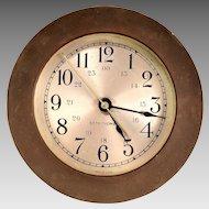Seth Thomas Brass Nautical Quartz Clock