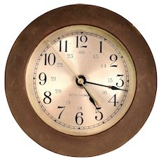 Seth Thomas Brass Nautical Quartz Clock