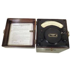 Westinghouse Portable Iron Loss AC Voltmeter Type PC 1921