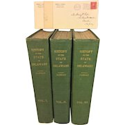 History of the State of Delaware 3 Vols by Henry Conrad 1908 1st Edition Conrad Correspondence with Henry Pyle