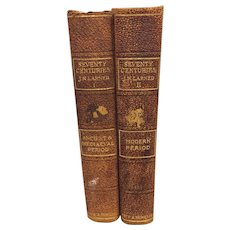 70 Centuries of Life of Mankind by J Larned 2 Volumes 1912 C A Nichols & Co