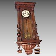 Antique Gustav Becker Vienna Regulator Wall Clock 1924 2 Weight Not Running Serial No 1947959 P655 Movement