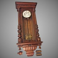 Antique Gustav Becker Vienna Regulator Wall Clock 1924 2 Weight Not Running Serial No 1947959 P655 Movement