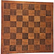 Vintage Wood Inlaid Squares Game Board