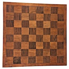 Vintage Wood Inlaid Squares Game Board