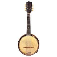 "Weymann 8 String Banjo Mandolin 1925  w/ Case Serial # 34708 25 7"" Resonator Pan  Keystone State Philadelphia PA"