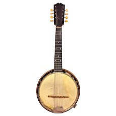 "Weymann 8 String Banjo Mandolin 1925  w/ Case Serial # 34708 25 7"" Resonator Pan  Keystone State Philadelphia PA"
