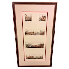 Dan Mitra Native American Themed Etchings Limited Edition Framed and Matted