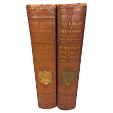 A New and Revised Edition An Encyclopedia of Freemasonry and the Kindred Sciences   2 Vols 1921 by Albert Mackey  Published by The Masonic History Company NY