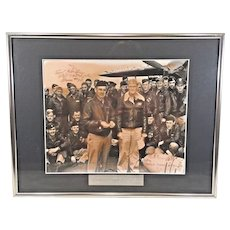 Doolittle's Raiders WWII   Commemorative Piece  Signed Photograph of Members of Raid  w/ Certificate of Authenticity Framed