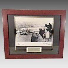 Doolittle's Raiders WWII  Commemorative Piece  Signed Photograph w/ Certificate of Authenticity Framed