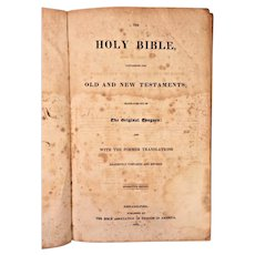 1831 Cope Family Bible Philadelphia Quaker Family