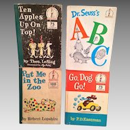 4 Dr. Seuss Books from the Early 1960s No Dust Jackets Beginner Book Series
