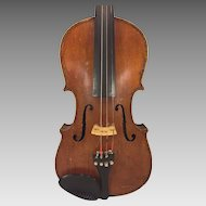 Antique Violin in Hard Case Joseph Guarnerius Model Inlaid Purfling 1734 Germany
