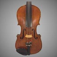 Antique Violin in Hard Case Joseph Guarnerius Model Inlaid Purfling 1734 Germany