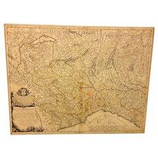 Antique Map of Part of Italy Alta Lombardia e stati ad essa Circonuicini by Giacomo Cantelli Da Vignola 1680 from 1741 Map Book  Item Description