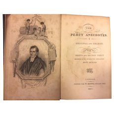 The Percy Anecdotes Original and Select 1st Edition 20 Volumes 1823 Sholto & Reuben Percy Publ T Boys Ludgate Hill London