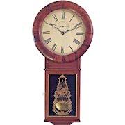 Antique Seth Thomas Regulator No 1 Clock NoPendulum Bob Rosewood Case Locks for Both Doors Work Runs