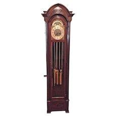 Vintage Hanson Clock Co Grandfather Clock Winterhalder & Hofmeier Mvt 5 Tube  Strike & Westminster Chimes Rockford IL