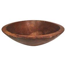 """Vintage Treenware Wood Bowl 17-7/8"""" Across 5.75"""" Base"""