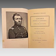 Lincoln Finds A General  Volume 3 Only by Kenneth Williams 1952