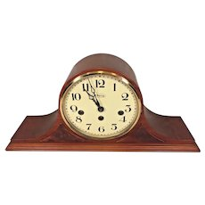 Ridgeway Westminster Chimes Mantel Clock Tambour Case   FHS Movement Model 340-02  Runs Strikes Chimes