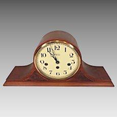 Ridgeway Westminster Chimes Mantel Clock Tambour Case   FHS Movement Model 340-02  Runs Strikes Chimes