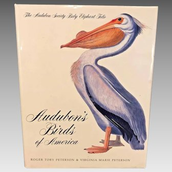 Audubon Birds of America Book 1981 w/ Dust Cover Audubon Society Baby Elephant Folio Printed in Japan,  Roger and Marie Peterson