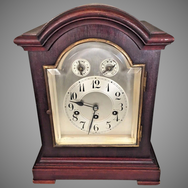Junghans Westminster Chimes Clock Mahogany Case Westminster Chimes Runs Not  Striking or Chiming