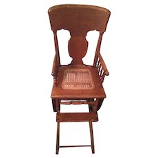Antique Oak Rocker Baby Chair Rocker