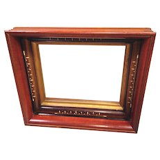 Antique Deep Well Framed Mirror