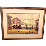 Civil War Moment of Glory Print Framed and Matted  1 of 2500 by G. Harvey Artist Proof