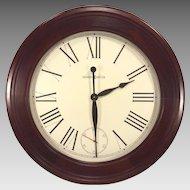 Large Vintage Howard Miller Wall Clock Quartz Movements Model 620-480 Running