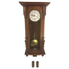 Antique Gustav Becker Vienna Wall Regulator Clock Running & Striking 1886