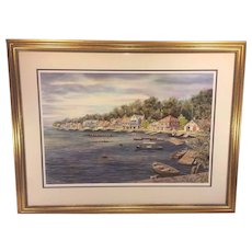 William Dawson Limited Edition Signed Print Entitled Boathouse Row Circa 1890 Philadelphia Hand Signed and Numbered 67/750