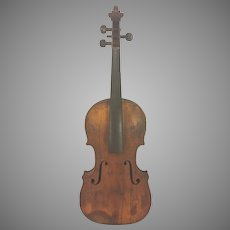 Antique French Violin 2 Piece Belly & 1 Piece Back Inlaid Purfling Neck Disconnected from Body No Maker Label