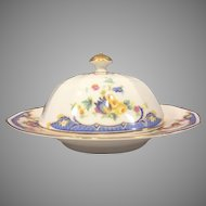 COVERED BUTTER DISH Princess China Belwood Alpena Pattern Bavaria