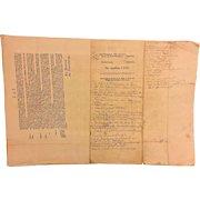 Antique Set of Mid-1700s Scottish Law Documents  Dealing w/ the John Ayton Family and John Duke of Roxborough and Ninian Jeffrey