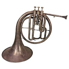 Antique Mellophone Horn Windsor Model Elkhart IN 3 Valves Conn Mouthpiece Serial #  64767 No Case