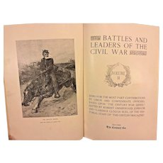 Antique Leather Bound Civil War Book 1887 Battles and Leaders of the Civil War Volume 2 Only First Edition