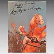 Vintage Roy Rogers & Trigger Cowboy Print Signed