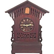 Antique Cuckoo Shelf Clock 8 Day Brass Movement Patent Date of 1866 A Frankfield & Co, New York  Runs & Strikes  Nice Wood Case