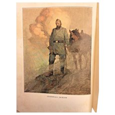 The Long Roll by Mary Johnston 1911 Illustrations by N C Wyeth Houghton Mifflin Company Antique Civil War Book, 1st Edition
