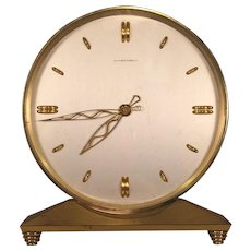 Bailey Banks & Biddle Shelf Clock Mid-20 Century Runs! Beveled Glass  Maker Unknown Possibly a LeCoultre  1960s to 1970s