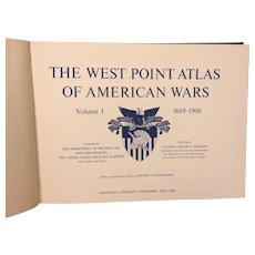 The West Point Atlas of American Wars 2 Volumes in Sleeve 1959