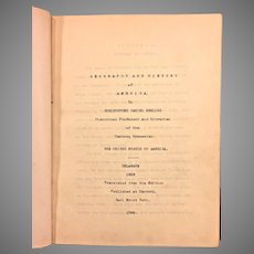Geography and  History of America The United States of America - Delaware 1883  by Christopher Ebeling English Interpretation Typewritten & Translated from 1799 Original German Edition
